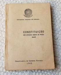 Título do anúncio: Pequeno livro da Constituição dos Estados Unidos do Brasil de 1946 - D.I.N.