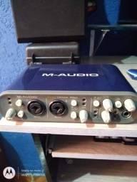 Interface troco em mesa de som de 4 a 6 canais