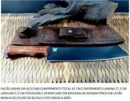Facão artesanal , campo , bushcraft aço 5160 cabo jacarandá