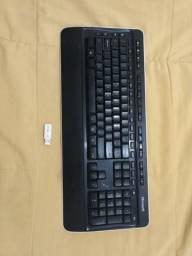 Teclado Microsoft sem fio e Mouse Gamer