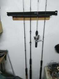 Kit completo de apetrechos para pesca amadora para rio e mar