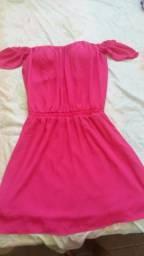 Vestido rosa ciganinha