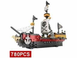 Navio Pirata Blocos De Montar 780 Pçs
