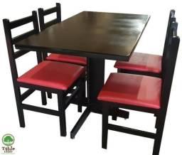Mesa e cadeira para bar