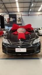 Toyota 2012/2013 Corolla gli 1.8 Automatico completo preto couro confira - 2013