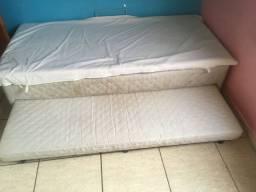 Cama Box Baú solteiro com cama auxiliar