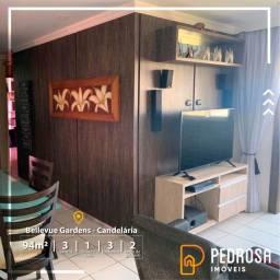 Apartamento 3/4 com uma suíte 94m² - Candelária - Bellevue Gardens