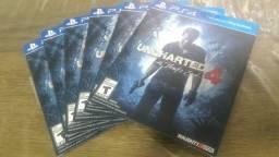 Uncharted 4 Ps4 Mídia Física Novo Original Lacrado Português