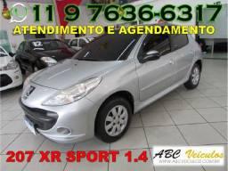Peugeot 207 Prata Xr Sport 1.4 Flex - Ano 2010 - Bem Conservada - Financiamento Facilitado