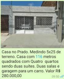 Vendo Casa no Prado, 04 quartos, 116m2