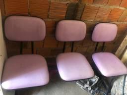 Cadeiras para recepção/escritório pra vender logo