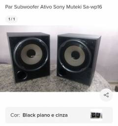 Vendo par de caixar amplificadas Sony muteki