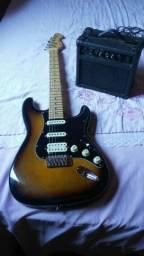Guitarra Michael com amplificador Strinberg