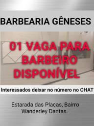 01 vaga de BARBEIRO