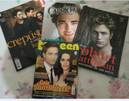 Crepúsculo kit com revistas variadas