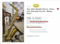 Sax Alto Noblet Paris - Francês década de 60