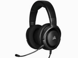 headset gamer com fio corsair  ca-9011195-na hs35 stereo carbon