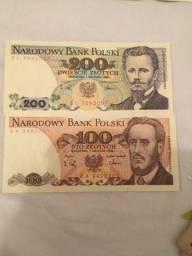Notas antigas da polônia