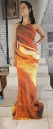 Vestido longo Fino Trato