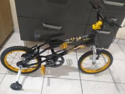 Bicicleta infantil aro 16 do Batman super linda