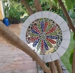 Mandala artesanal. Roda cigana.