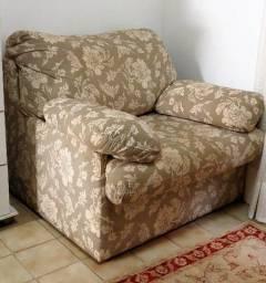 Poltrona super confortável, bifuncional, com cama embutida