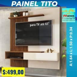 Painel para tv, painel e rack