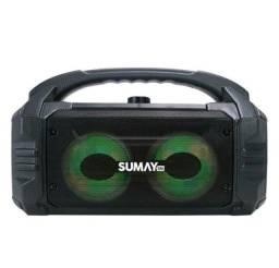 Caixinha de Som Bluetooth Sumay Sunbox 50w novo