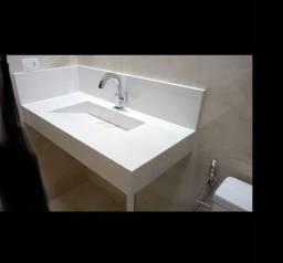 Pia de banheiro de porcelanato