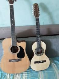 violão e viola novos