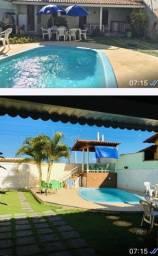 Casa p/ temporada com piscina frente para o mar