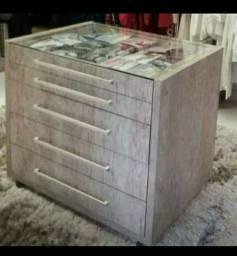 Movel de madeira com gavetas