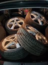 Jogo de roda aro 19 TSW com pneus 235 35 19