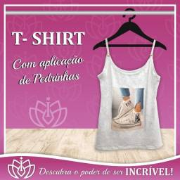 T-Shirt de Alcinha com Pedrinhas