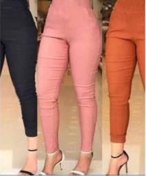 Calça feminina Skinny Bolso Falso básica e elastico na cintura