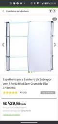 Espelheira para Banheiro de Sobrepor com 1 Porta