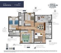 - - Lançamento com 75m² e 3 dormitórios