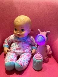 Boneca com girafa que acende luzes