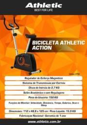 Bicicleta Ergometrica Magnética Athletic Action 2021 + Entrega e Montagem Grátis