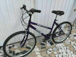 Bicicleta Caloi aro 26 Roxa,18 Marchas Freios V-Brake,pneus Novos!Aceito-Propostas
