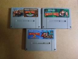 Trilogia Donkey Kong original de Super Nintendo