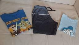 Lote roupa menino 8-10 anos