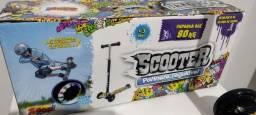 Panite Scooter NOVO SEM USO até 80 Kg Rodas c/luzes de borracha