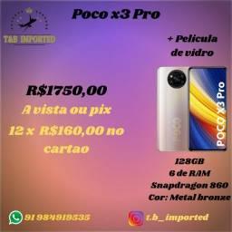 Poco x3 Pro 6/128Gb + película de vidro (Bronze)
