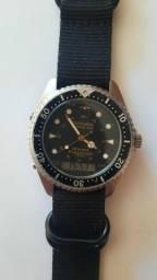 Relógio Technos Skydiver Professional 41.22 + Pulseira NATO de Nylon Extra