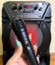 SÁBADOU COM PROMOÇÃO! Caixa de som Bluetooth KTS 1131 com controle e microfone