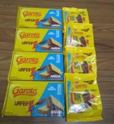 Kit 4 Wafer Garoto + 4 Achocolatado Garoto