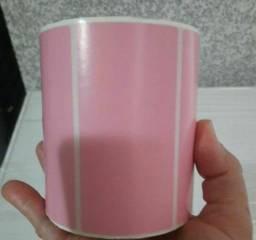 2 rolo etiqueta 100x50 (10x5) adesiva pink rosa com 800un por rolo.