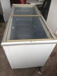 Freezer expositor metalfrio horizontal 550 litros 110V conservado