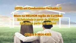 Lotes em St.Felicidade #MoreEmCondominioFechado #Terrenos Ligue : 9 9814-4355 (whatsapp).